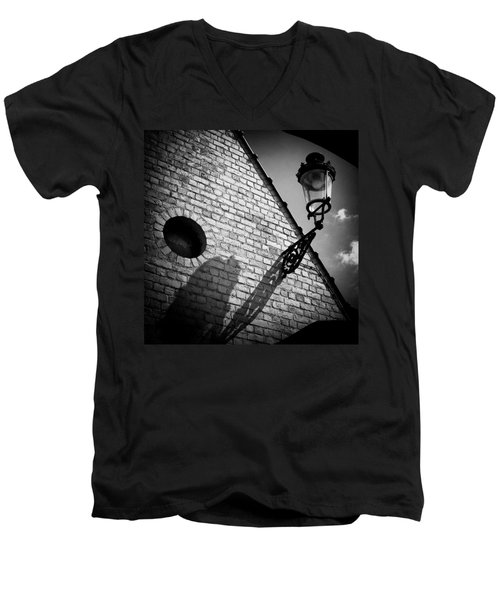Lamp With Shadow Men's V-Neck T-Shirt