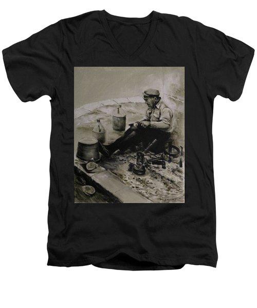Landier.  Tinsmith. Men's V-Neck T-Shirt