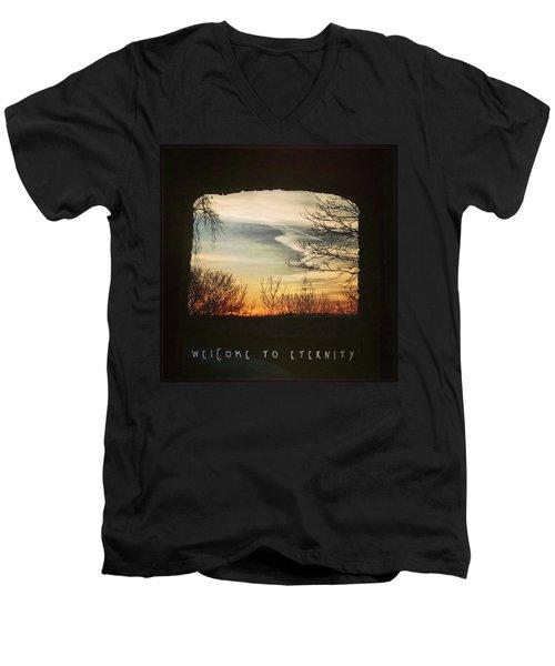 #landscape #gateway #historicalplace Men's V-Neck T-Shirt by Mandy Tabatt