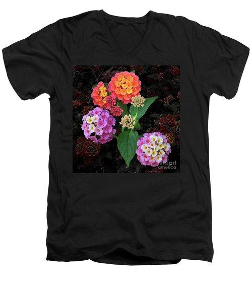 Lantana Camara Shrub Men's V-Neck T-Shirt