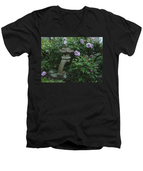 Lantern With Dahlia Men's V-Neck T-Shirt