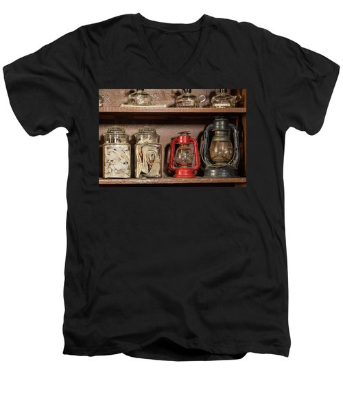 Lanterns And Wicks Men's V-Neck T-Shirt by Jay Stockhaus