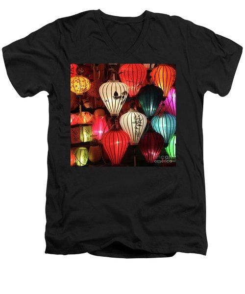 Lanterns Colors Hoi An Men's V-Neck T-Shirt