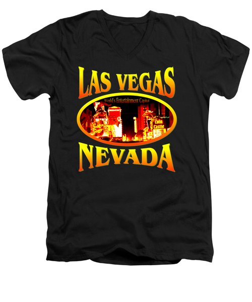 Las Vegas Nevada Design Men's V-Neck T-Shirt