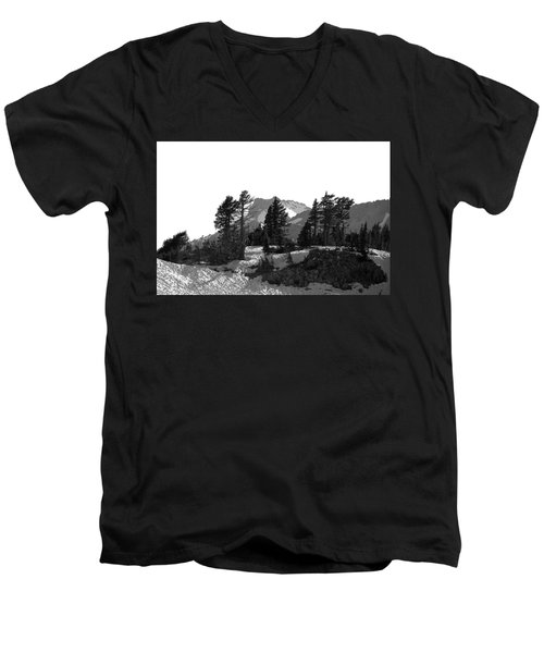 Men's V-Neck T-Shirt featuring the photograph Lassen National Park by Lori Seaman