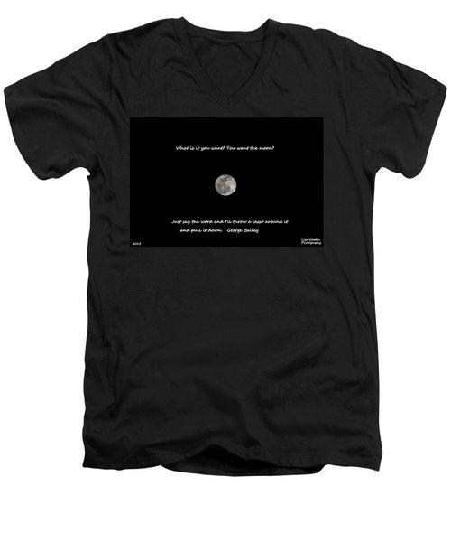 Lasso The Moon Men's V-Neck T-Shirt