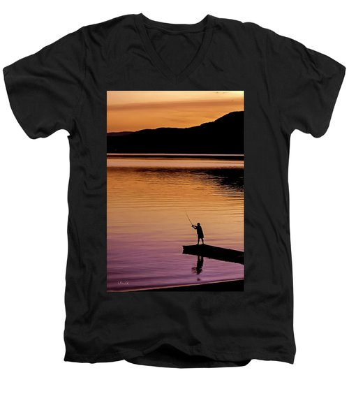 Last Cast Men's V-Neck T-Shirt
