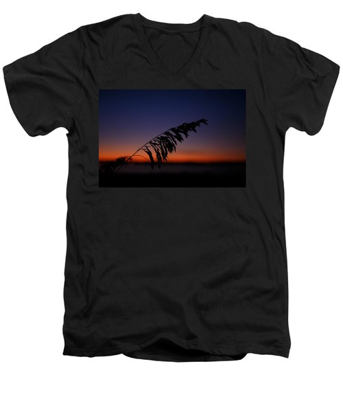 last light at Hilton Head Island Men's V-Neck T-Shirt by Shane Holsclaw