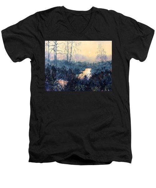 Last Light On Skipwith Marshes Men's V-Neck T-Shirt
