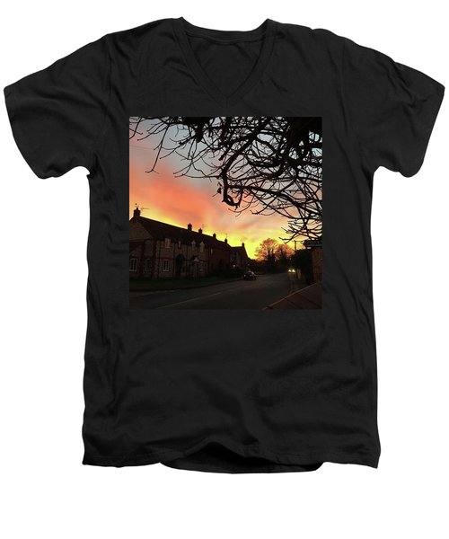 Last Night's Sunset From Our Cottage Men's V-Neck T-Shirt