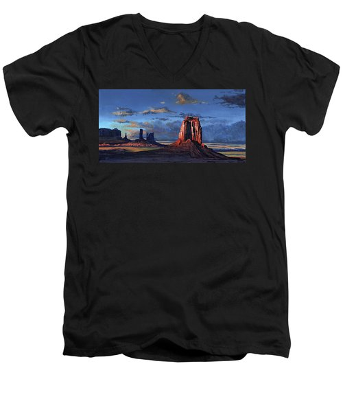 Last Rays Of The Day Men's V-Neck T-Shirt