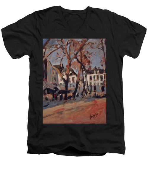 Last Sunbeams Our Lady Square Maastricht Men's V-Neck T-Shirt by Nop Briex