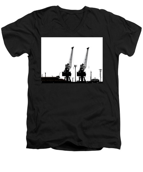 Men's V-Neck T-Shirt featuring the photograph Last To The Ark by Stephen Mitchell