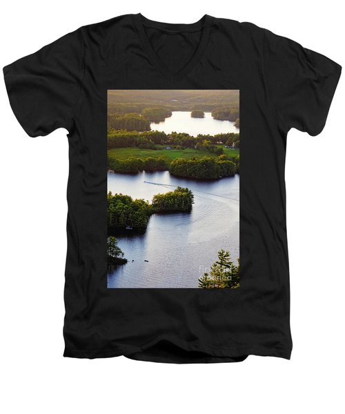 Late Afternoon On Lake Megunticook, Camden, Maine -43988 Men's V-Neck T-Shirt