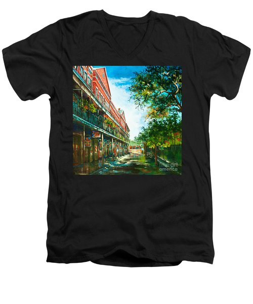 Late Afternoon On The Square Men's V-Neck T-Shirt