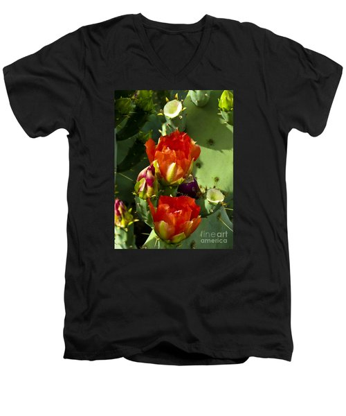 Late Bloomer Men's V-Neck T-Shirt by Kathy McClure