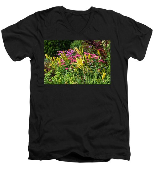 Late July Garden 1 Men's V-Neck T-Shirt