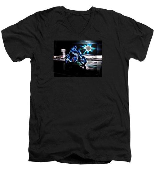 Late Night Street Racing Men's V-Neck T-Shirt