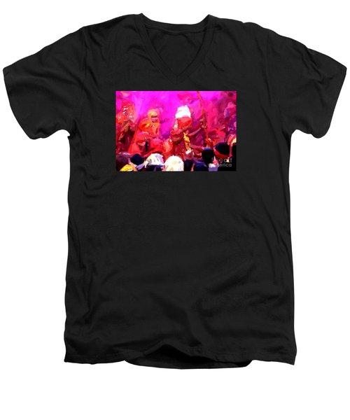 Lathmaar Holi Of Barsana-3 Men's V-Neck T-Shirt
