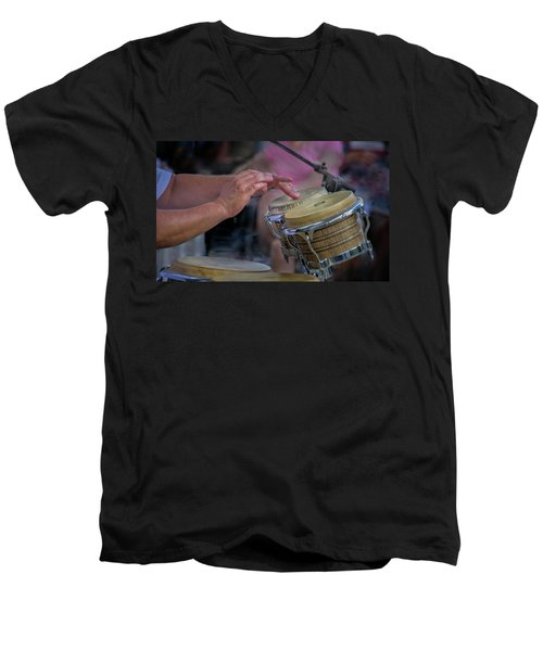 Latin Jazz Musician Men's V-Neck T-Shirt
