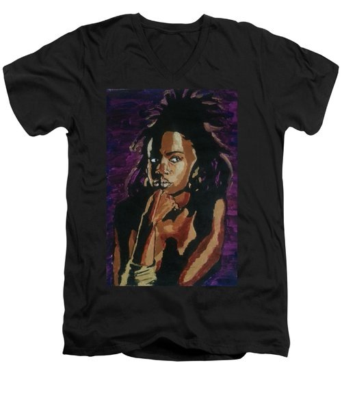 Lauryn Hill Men's V-Neck T-Shirt