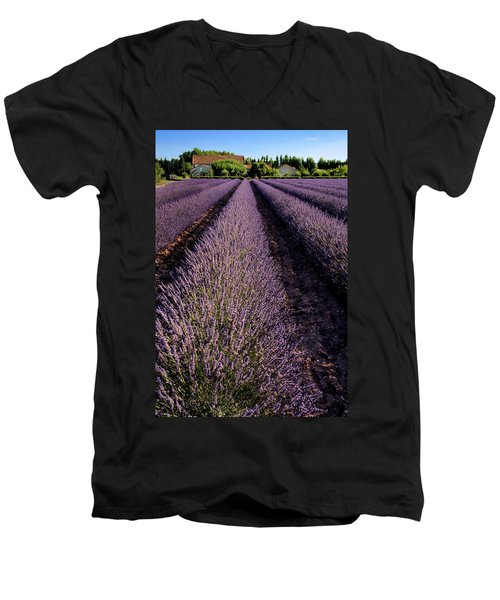 Lavender Field Provence France Men's V-Neck T-Shirt