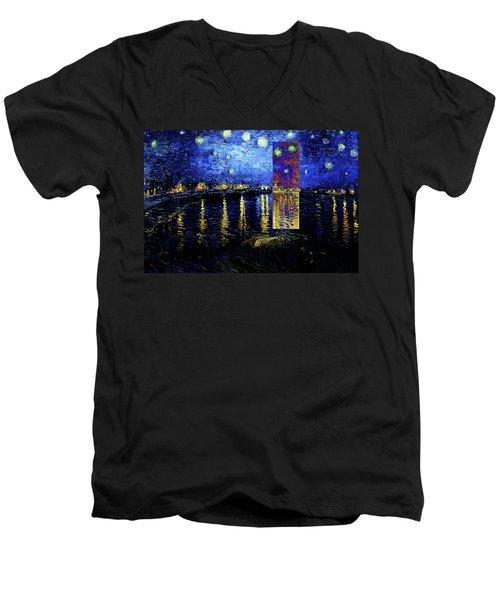 Layered 15 Van Gogh Men's V-Neck T-Shirt