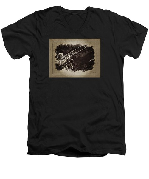 Le Roi Du Trombone  Men's V-Neck T-Shirt
