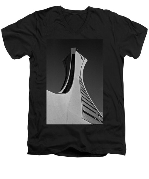 Le Stade Olympique De Montreal Men's V-Neck T-Shirt
