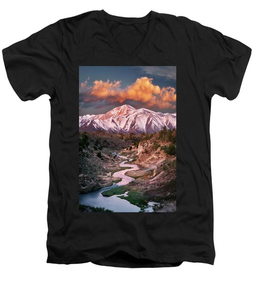 Leading Lines Men's V-Neck T-Shirt