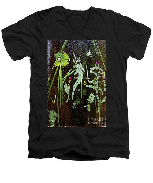 Leaf Art Men's V-Neck T-Shirt