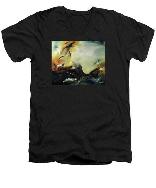 Leap Of Faith Men's V-Neck T-Shirt by Craig T Burgwardt