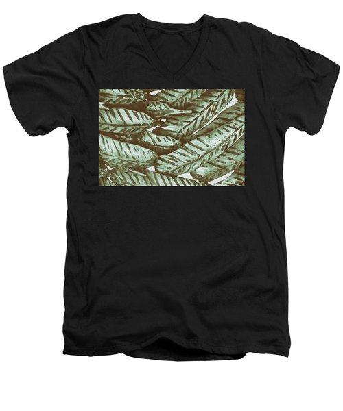 Leaves No. 3-1 Men's V-Neck T-Shirt