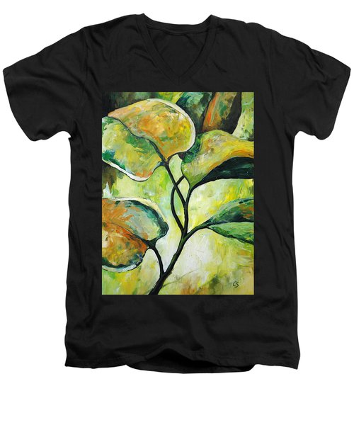 Leaves2 Men's V-Neck T-Shirt