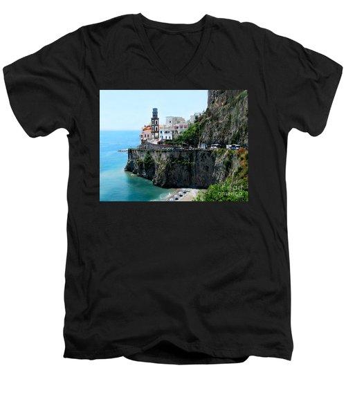 Leaving Atrani  Italy Men's V-Neck T-Shirt