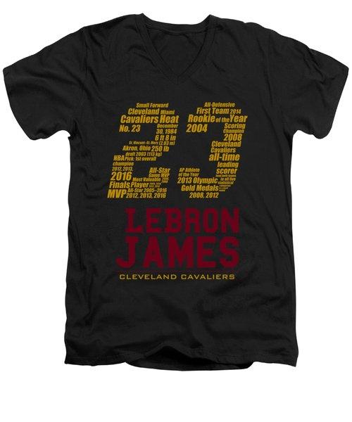 Lebron 23 Men's V-Neck T-Shirt by Augen Baratbate