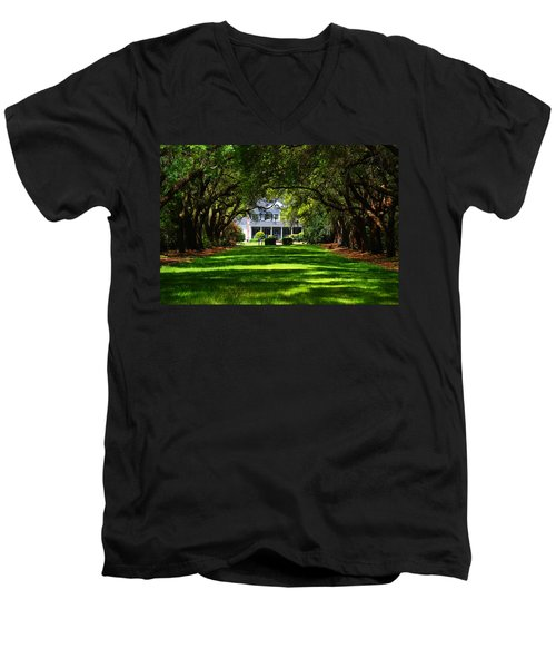 Legare Waring House Charleston Sc Men's V-Neck T-Shirt