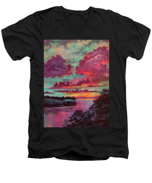 Legend Of A Sunset Men's V-Neck T-Shirt