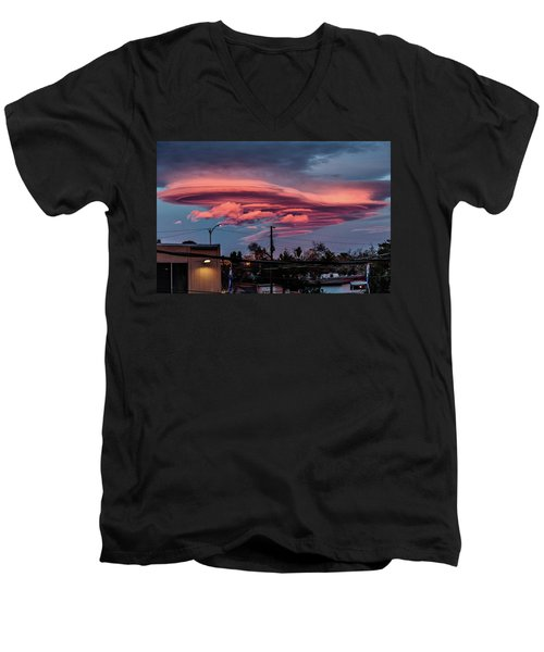 Men's V-Neck T-Shirt featuring the photograph Lenticular Cloud Las Vegas by Michael Rogers