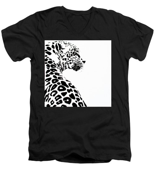 Leo-pard Men's V-Neck T-Shirt