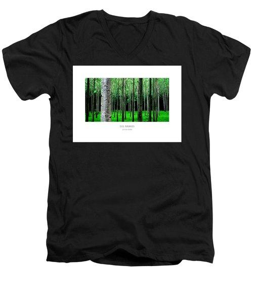 Les Arbres Men's V-Neck T-Shirt