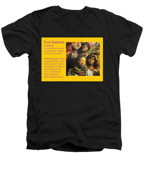 Les Izmore Feminism Men's V-Neck T-Shirt