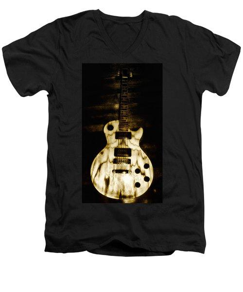 Les Paul Guitar Men's V-Neck T-Shirt