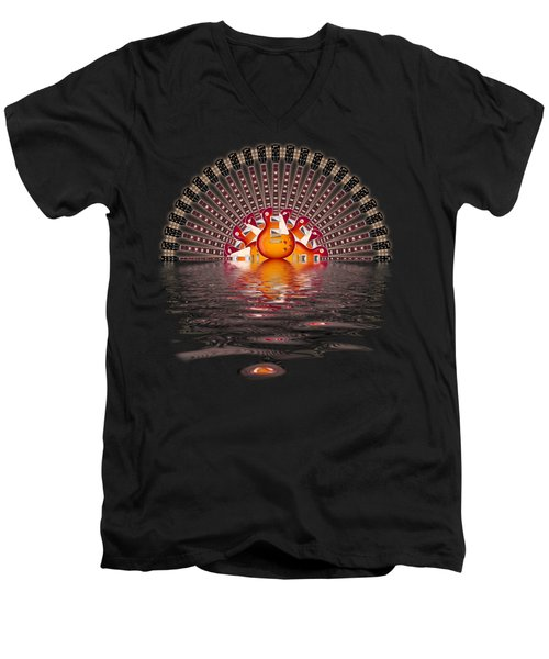 Les Paul Sunrise Shirt Men's V-Neck T-Shirt
