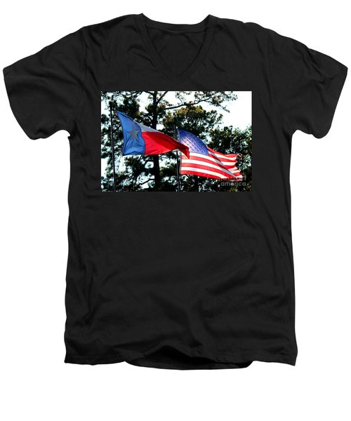 Men's V-Neck T-Shirt featuring the photograph Let Freedom Ring by Kathy  White