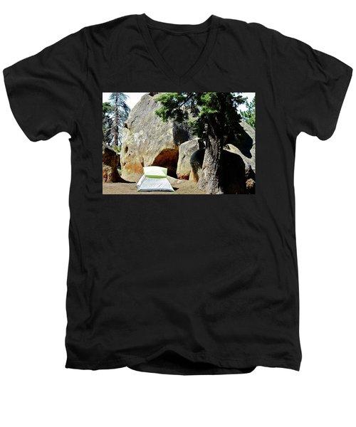 Let's Go Camping Men's V-Neck T-Shirt