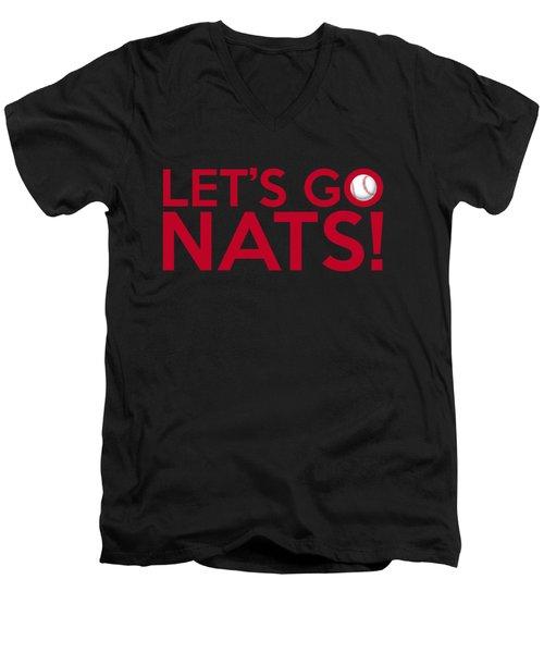 Let's Go Nats Men's V-Neck T-Shirt
