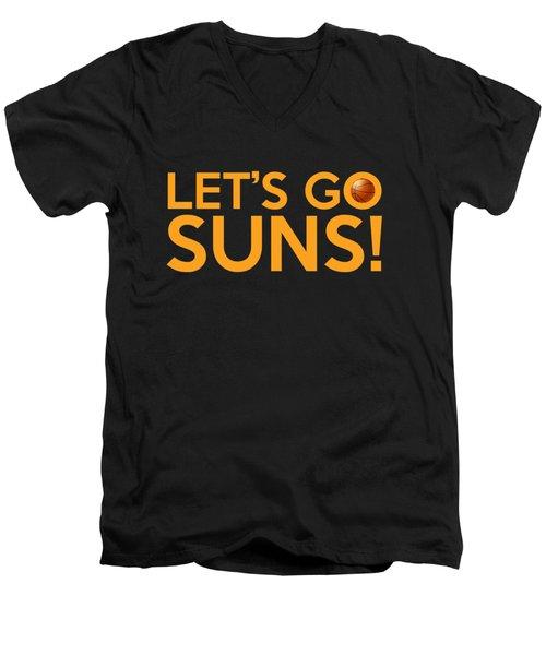 Let's Go Suns Men's V-Neck T-Shirt by Florian Rodarte