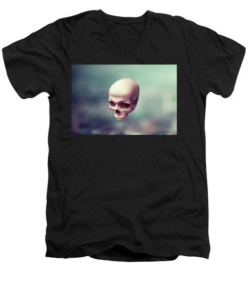 Men's V-Neck T-Shirt featuring the digital art Levity by Joseph Westrupp