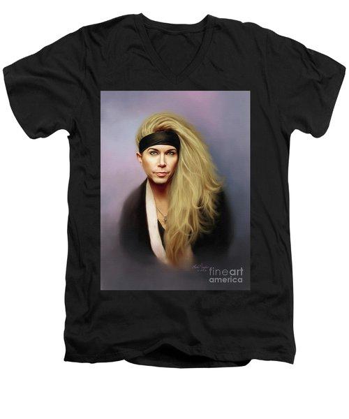 Lexxi Men's V-Neck T-Shirt by Lena Auxier